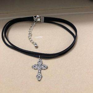 Black Cross Vintage Choker